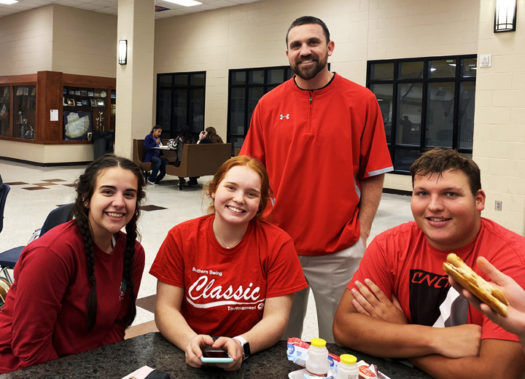 Red was the color choice for students and teachers in the know on Tuesday.