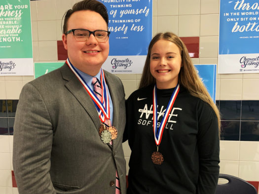 Colby Menefee and Caylee Ayres both placed at the Waco Midway speech meet.