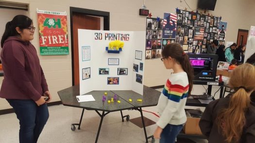 GEMS students helped run booths at the Family Science Night.