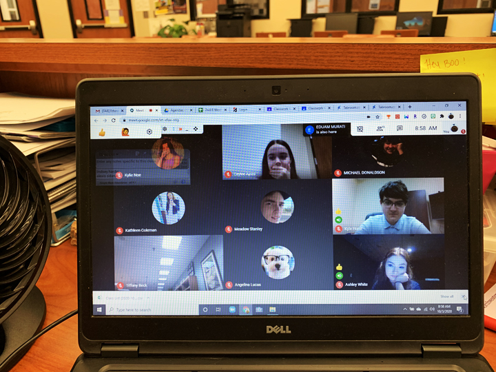 Students in speech and debate now compete in Zoom rooms.