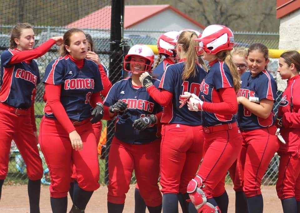Shelby Boden after hitting a home run!