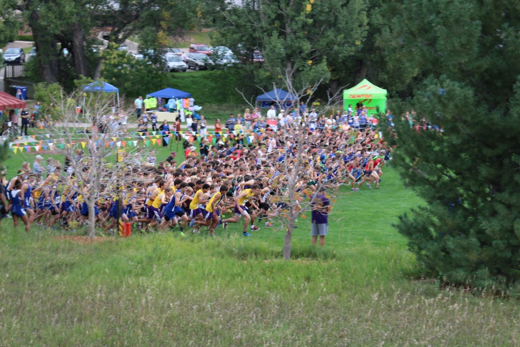 Runners start off at the LHS Invitational