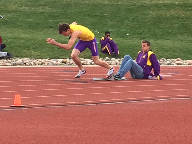 Senior Tommy Kail begins his race
