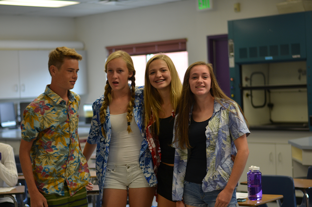 Sophomore Reganne Fornstrom poses with her friends on tourist day.