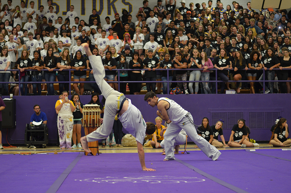 A Capoeira performance. Capoeira is a martial art originating from Brazil.