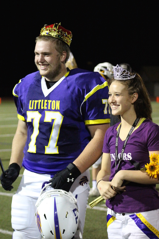 David Bieber and Rose Lucas are crowned homecoming king and queen.