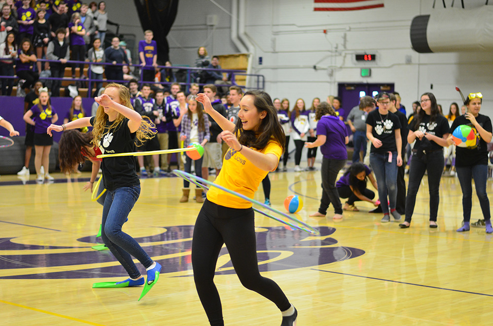 Senior Anna Sonju hula hoops her way to victory.