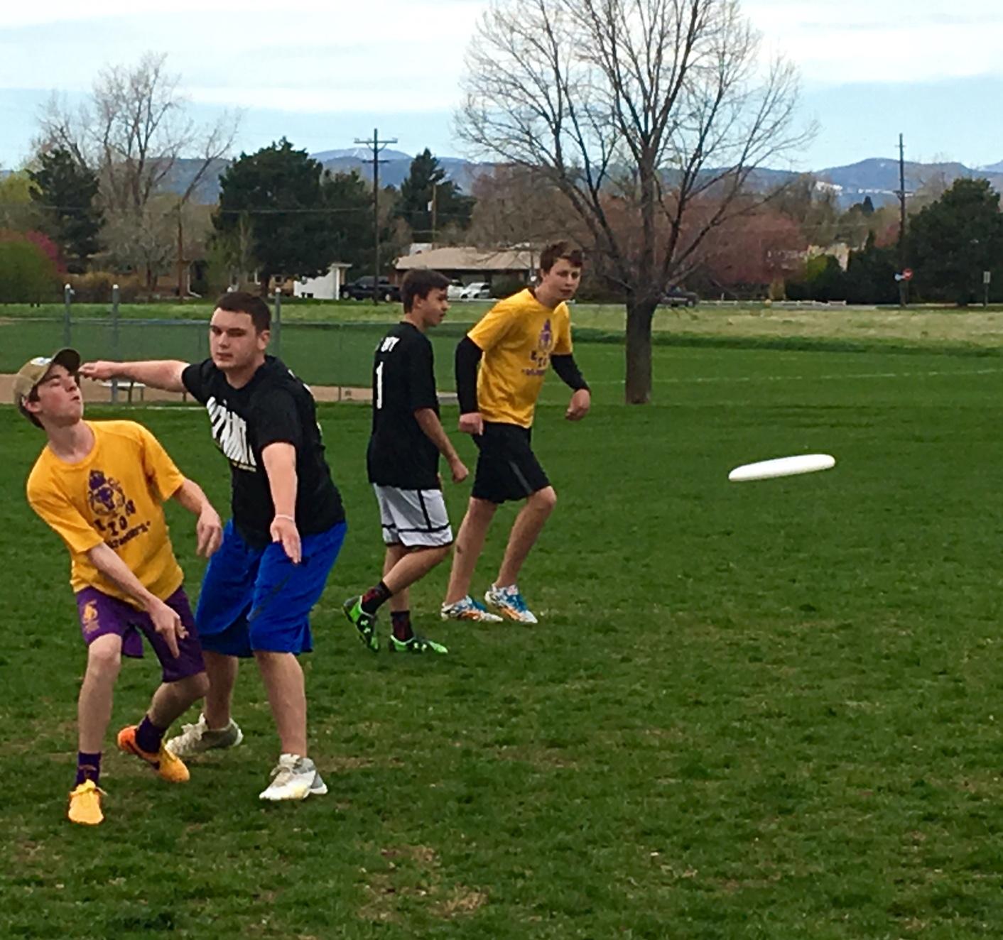 Junior Andy Bredar sends the disk up field.