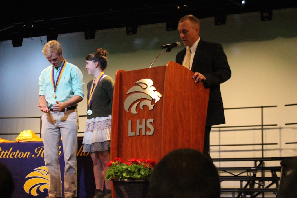 Travis Amonson announces activities students of the year