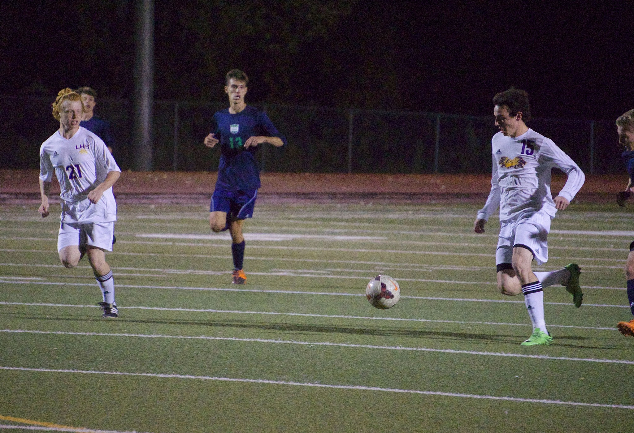 Defenders Nate Schwarz (left) and Deagan Malloy (right(