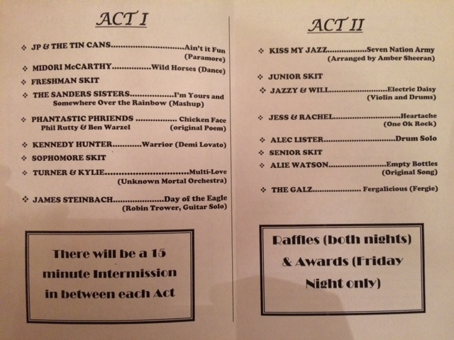 List of talent show acts