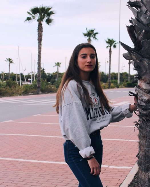 Celia on a promenade
