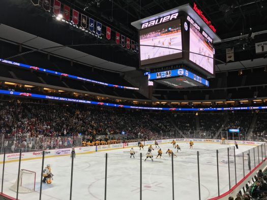 The Xcel Energy Center during section A quarterfinals Wednesday.