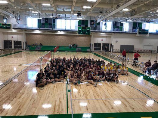 The Badminton team during a tournament at Edina High School
