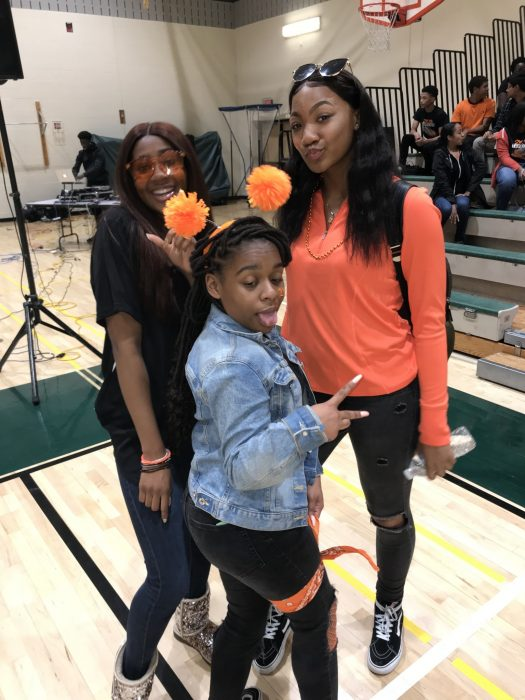 Tynece Roberts, Sydney Lewis and Yasmeen Mahdi at class night