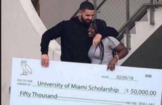 Drake gives away $1 million