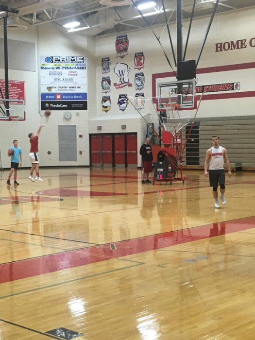 Players at open gym