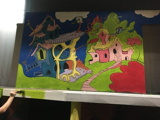 Background set from Seussical