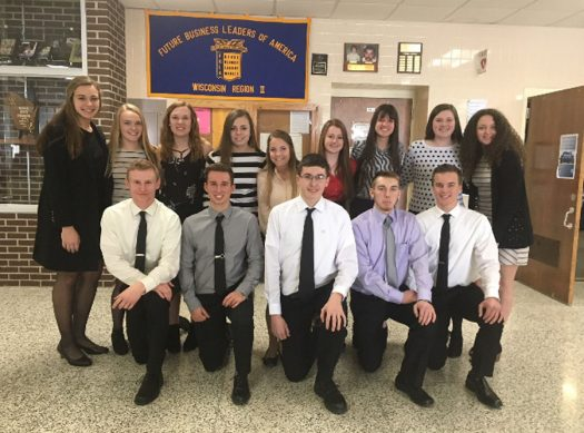 The group of Shawano FBLA members who participated in the latest competition.