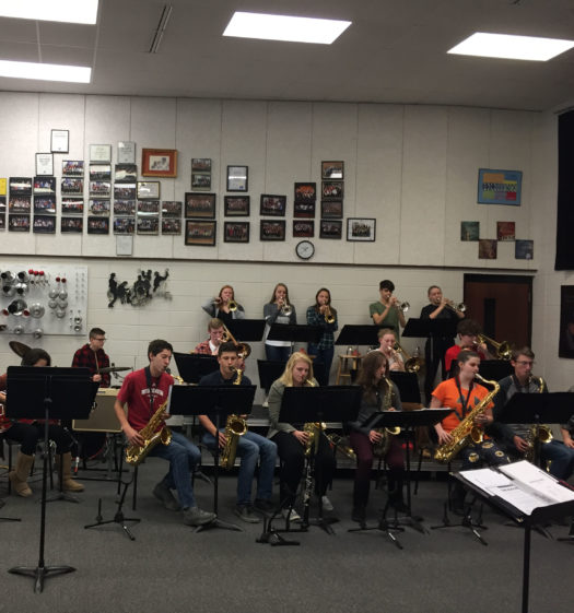 Jazz Band 1 practicing for Just Desserts.