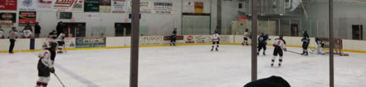 Shawano Hockey team during a home game