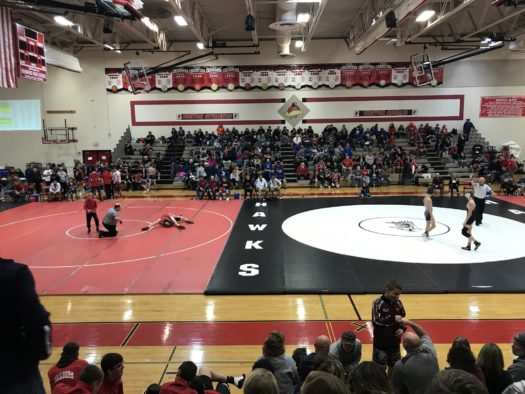 Varsity mats at the Holiday Classic Tournament