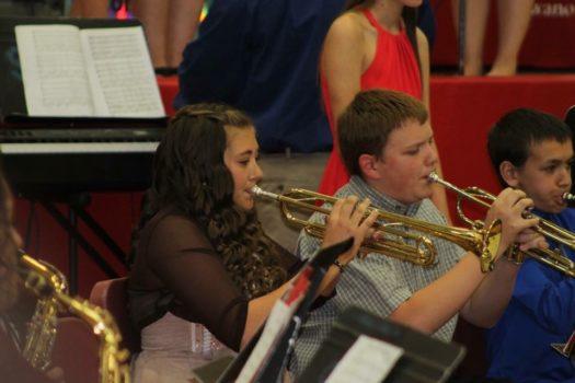 Haley Sheldon playing trumpet