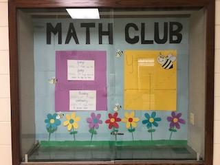 Math Club Display Case