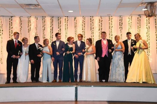 The prom court.