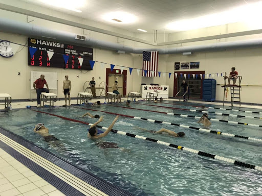 Boys swim preparing for their first meet.