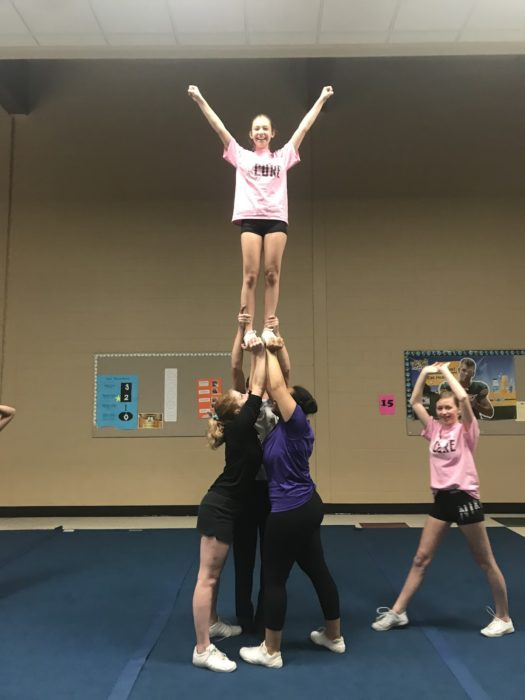 Benecke is the back base in this new and successful stunt group.