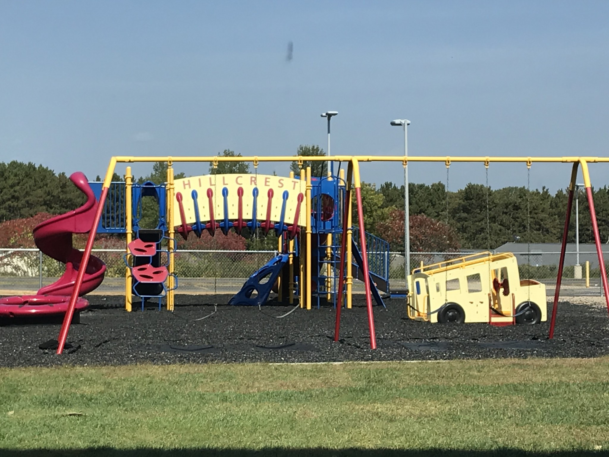 Hillcrest's smaller playground is now used for recess.