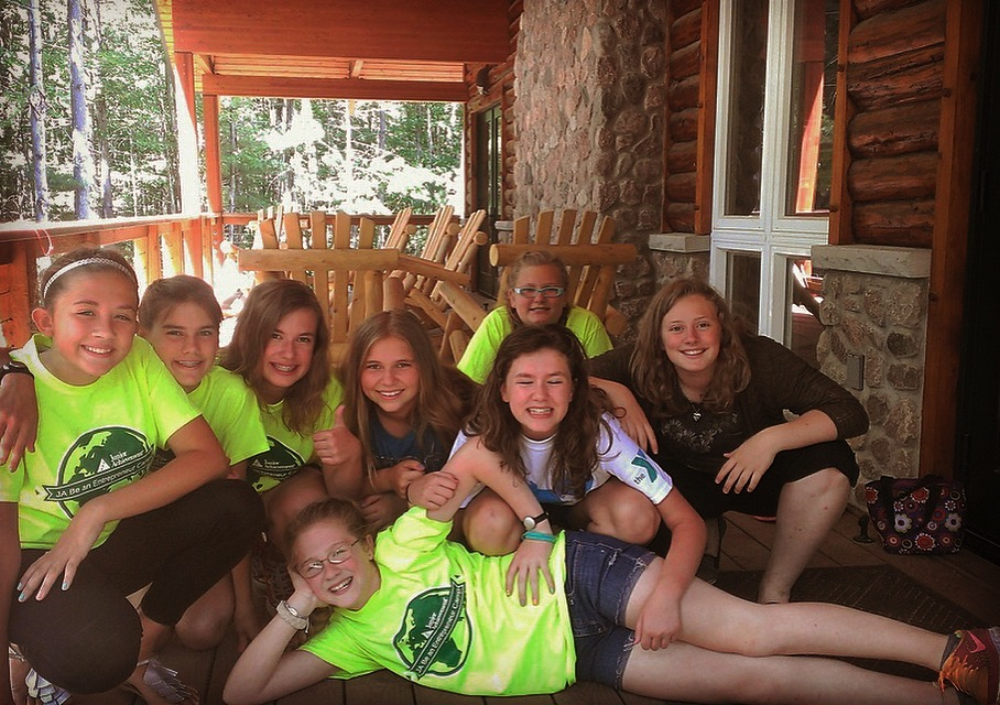 My friends and I from my second summer at camp.