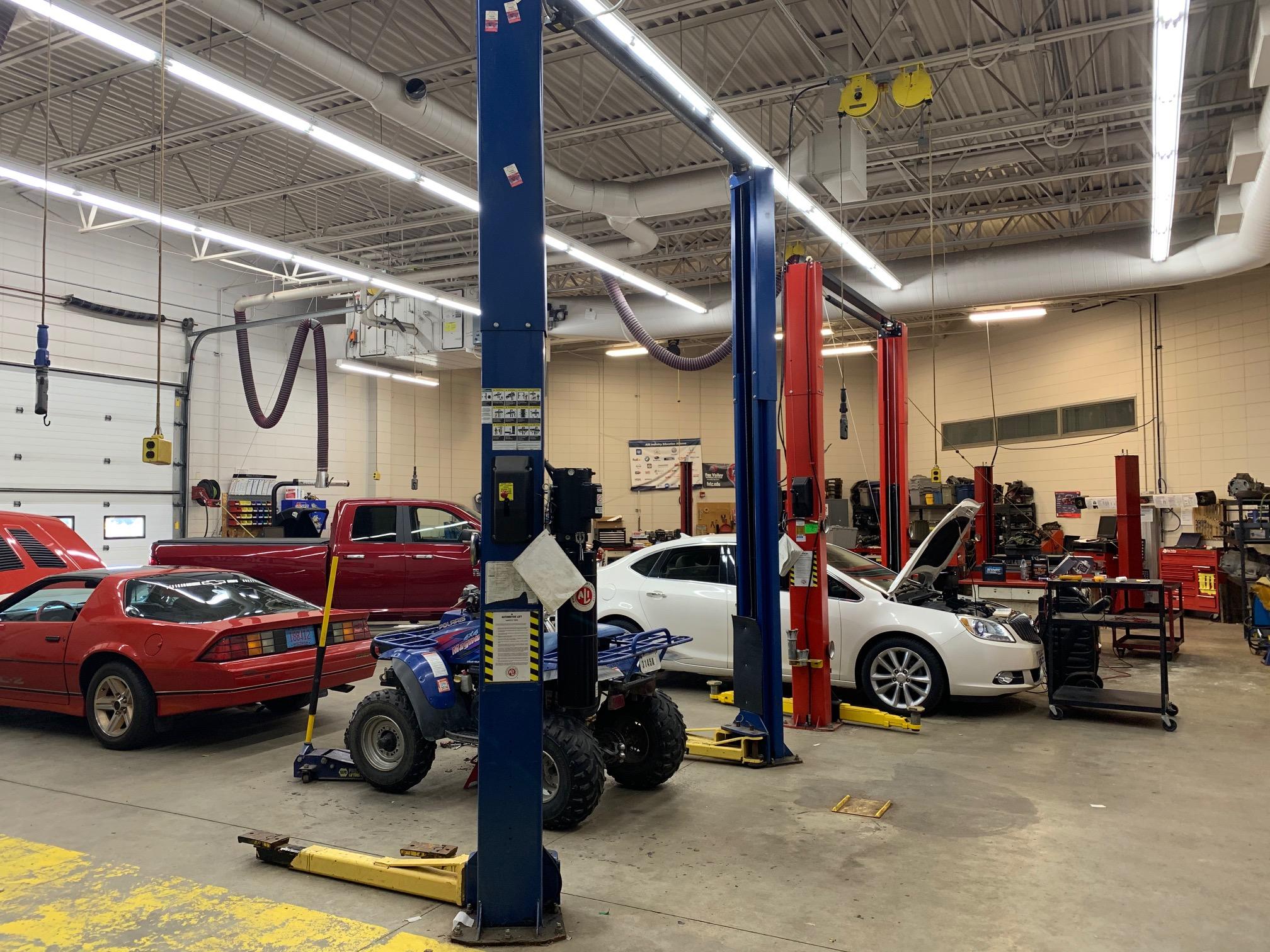 Mr. Hodkiewicz's automotive shop.