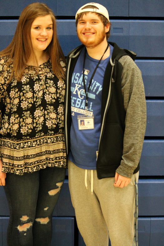 Seniors Aubrey Valentich and Kaden Wilson are two of this year's Courtwarming royalty candidates.