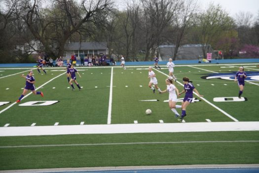 Harrisonville Wildcats take on the Pleasant Hill Roosters soccer team.