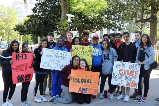 Northview students rally in front of State Capitol Building