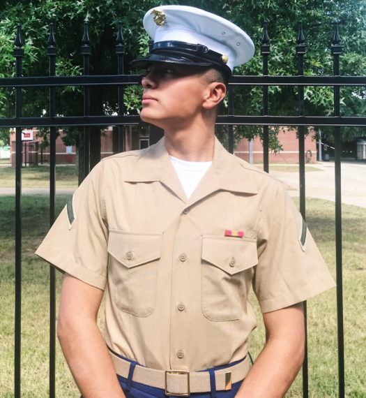 Ivar Lobaton, a 2018 graduate, in his Marines uniform.