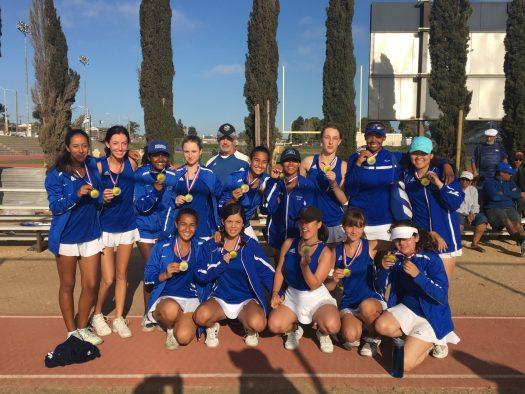 Girls tennis team at a previous tournament.