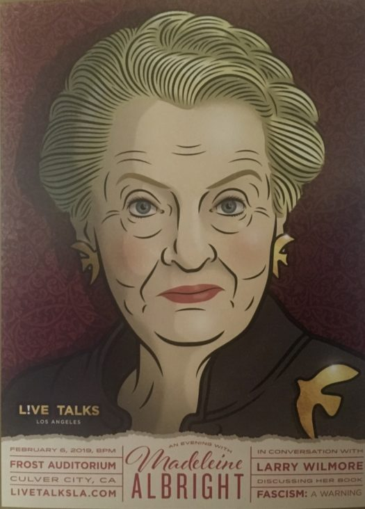 Madeline Albright's depiction in the night's program