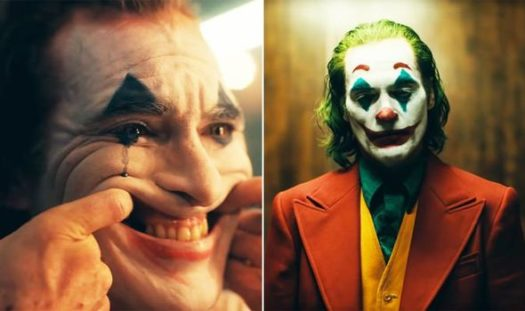 Before and after embracement of Joker role