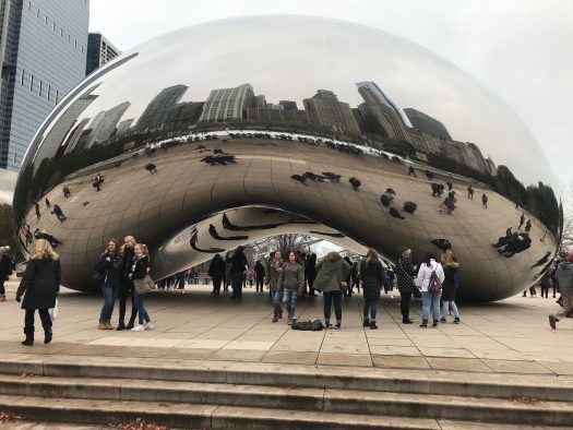 After touring The Chicago Art Institute, art students visited The Bean in Millenium Park.
