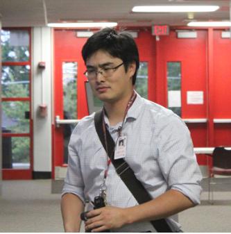 Ryan Ogi, AP U.S history teacher, arrives at school during a crispy morning