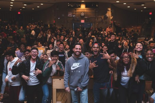 49ba5834d7a Ronnie Fieg presents his documentary to the students at Benjamin N. Cardozo.