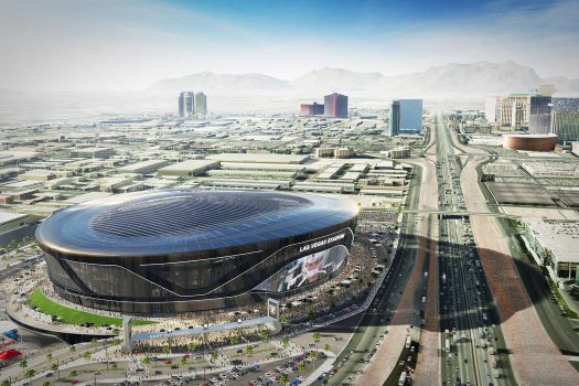 The proposed Raiders' stadium design and location, coming 2019 or 2020.