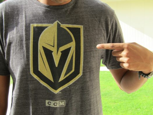 Chargers are already rocking Golden Knights gear on campus.