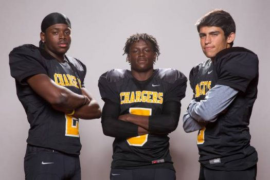 From left, Daimanuel Mayfield, Aquantay Morris and Justin Aguilar