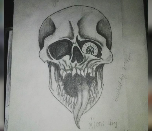 Drawing done by Gianetta (Gia) Luther