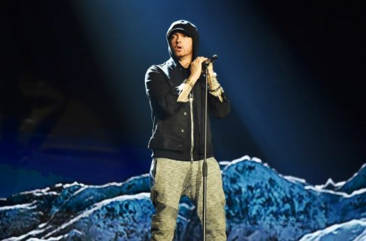 Eminem performing in 2017