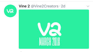 A tweet from the Vine 2 Twitter announcing the comback